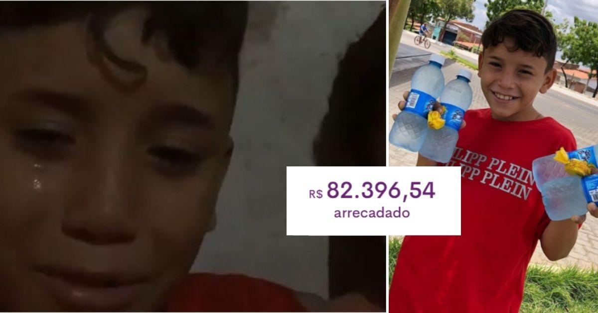Menino que foi denunciado por vender água recebe apoio de internautas e vaquinha bate R$ 82 mil 1