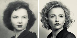 Netos registram fotos de avós