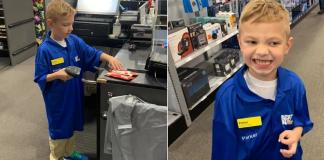garotinho vira vendedor por um dia