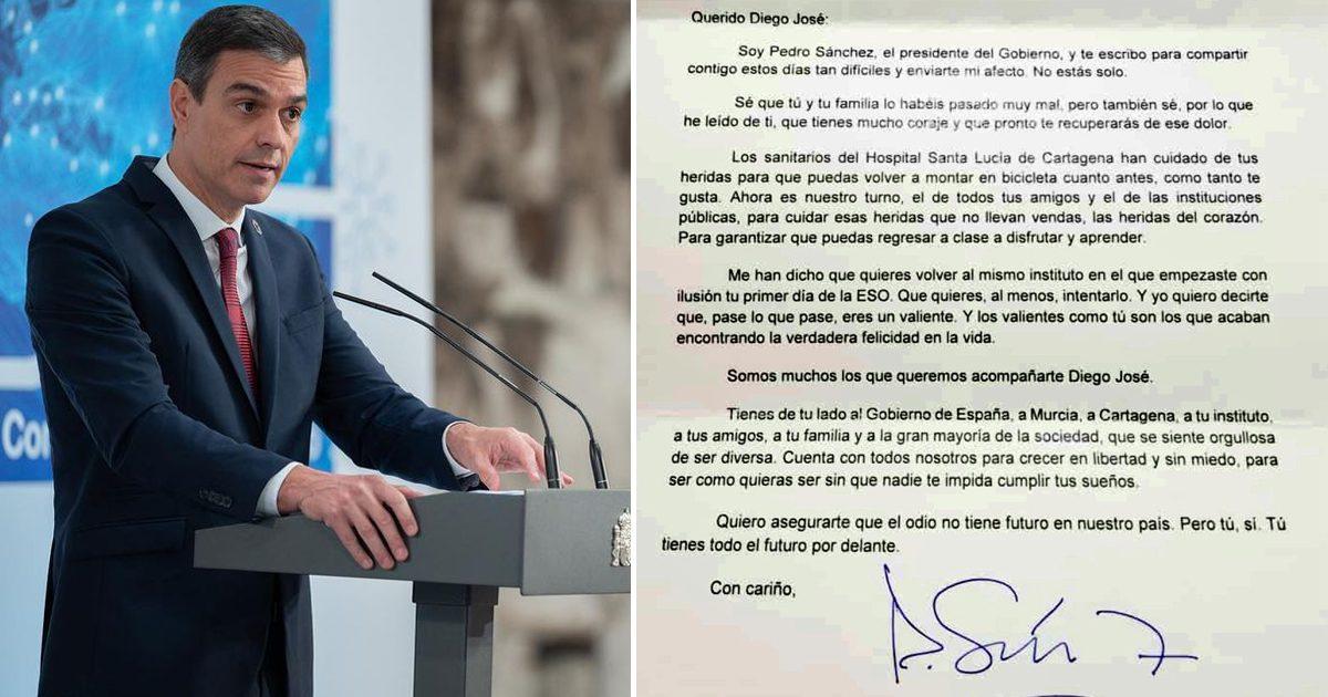 Primeiro-ministro da Espanha envia carta emocionante a menino agredido com ofensas homofóbicas 2