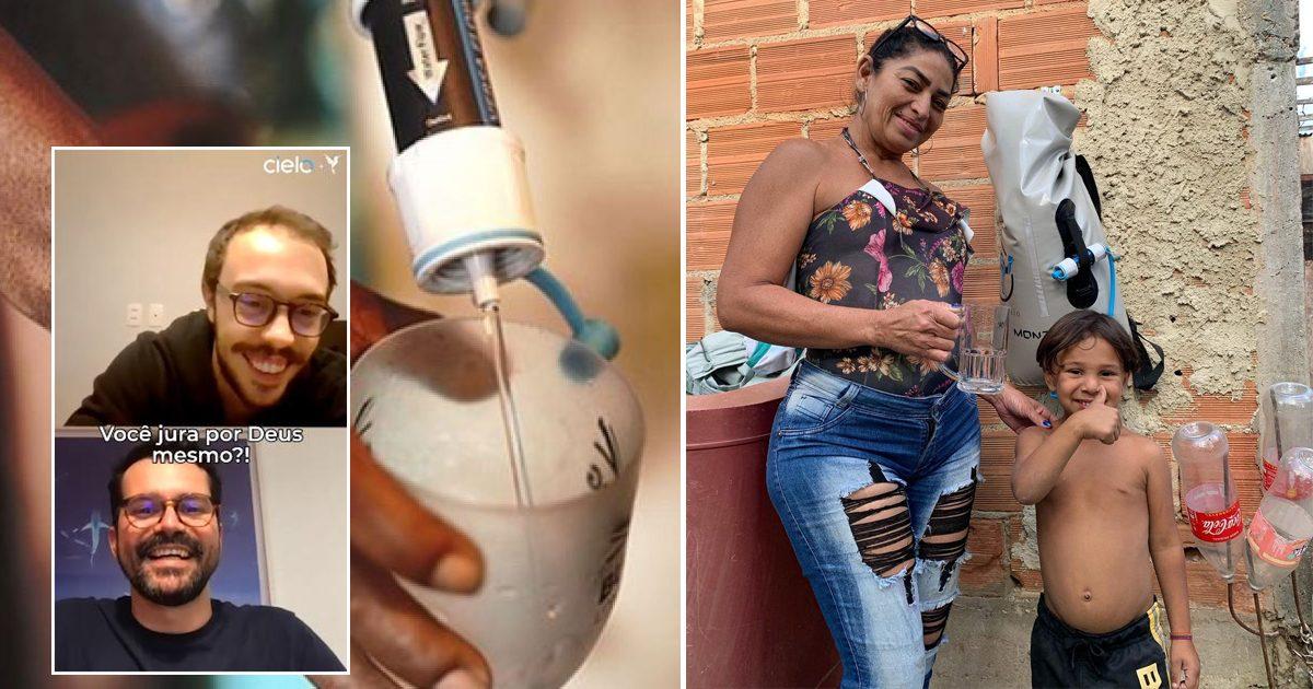 Estudante cria mochila que leva água potável a famílias carentes e conta com apoio de Cielo para potencializar impacto positivo 1