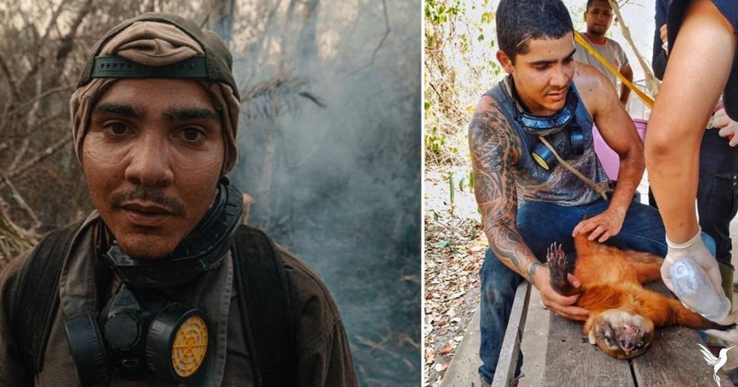 Thiago viajou pro Pantanal pra combater queimadas