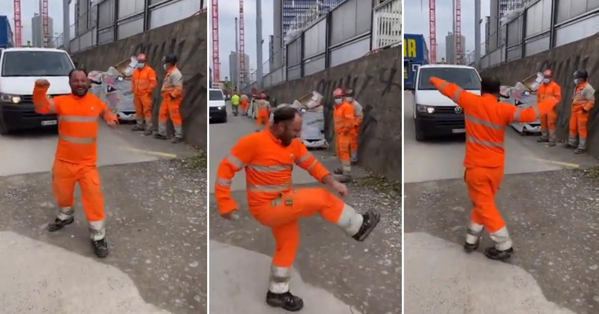 Trabalhadores da construção civil suíços sabem como comemorar o final de semana e a gente tá amando! 2