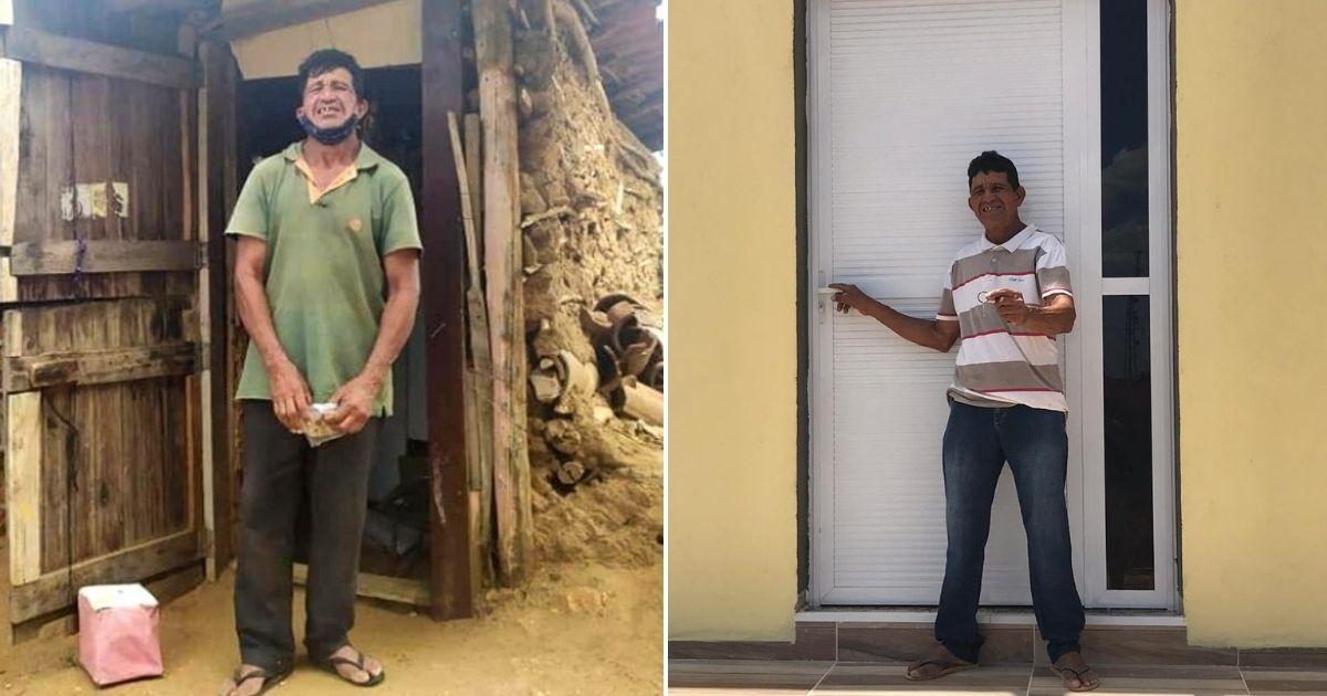 Ex-gari que vivia há 30 anos em casa de barro sem comida e água tem vida transformada após vaquinha! 2