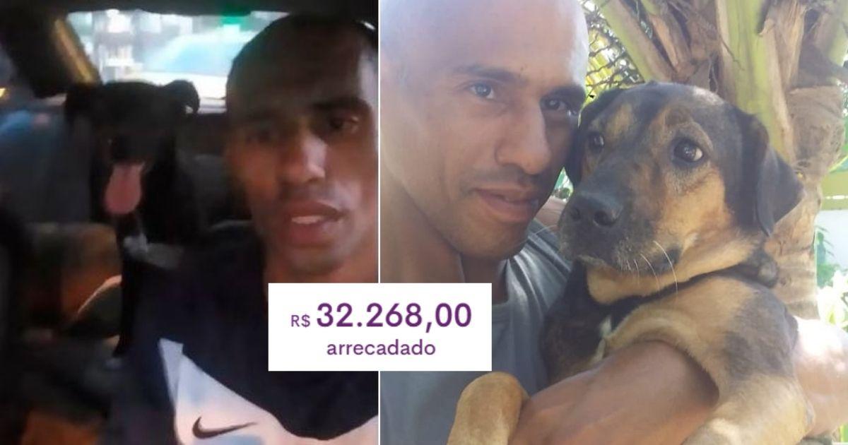 Homem que dormia no carro com seus cães após perder casa recebe R$ 32 mil em doações 1
