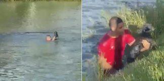 homem pula lagoa salvar cachorro