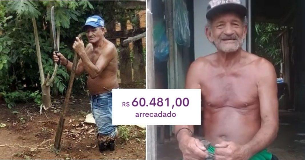 Idoso que perdeu suas pernas e vive sozinho conseguirá reformar sua casa com vaquinha de R$ 60 mil 3