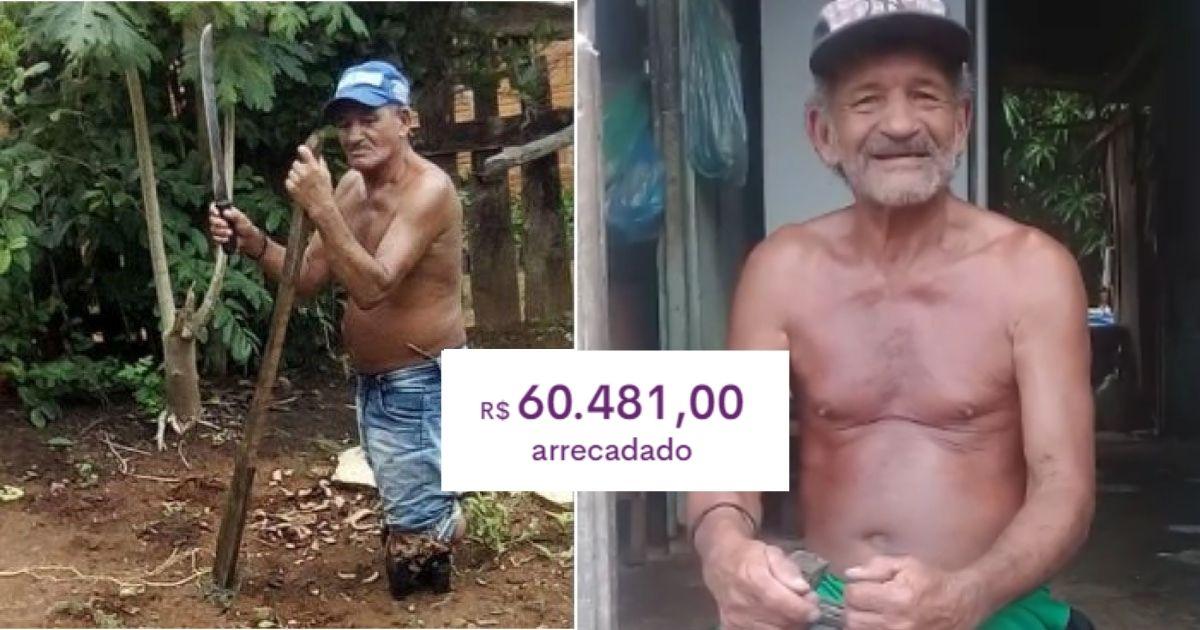 Idoso que perdeu suas pernas e vive sozinho conseguirá reformar sua casa com vaquinha de R$ 60 mil 1