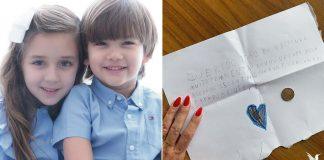 irmã deixa carta da fada do dente para irmão