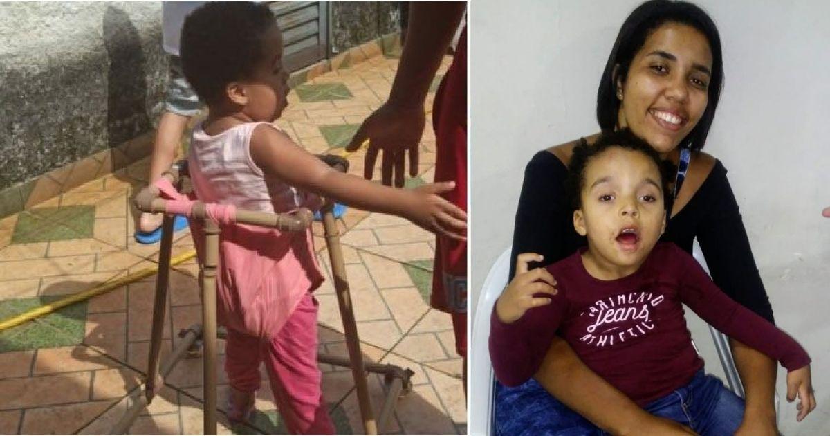 Mãe improvisa andador de PVC para filha com doença rara conseguir andar e ganha vaquinha para tratamento da criança 1