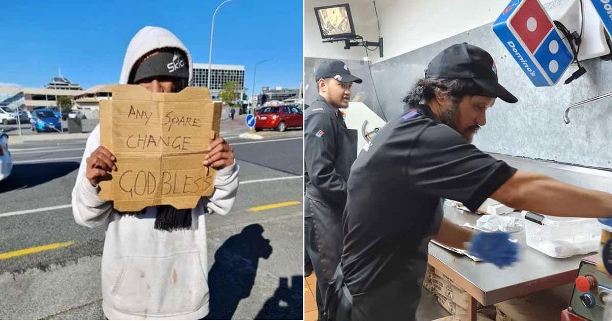 morador de rua ganha emprego em pizzaria