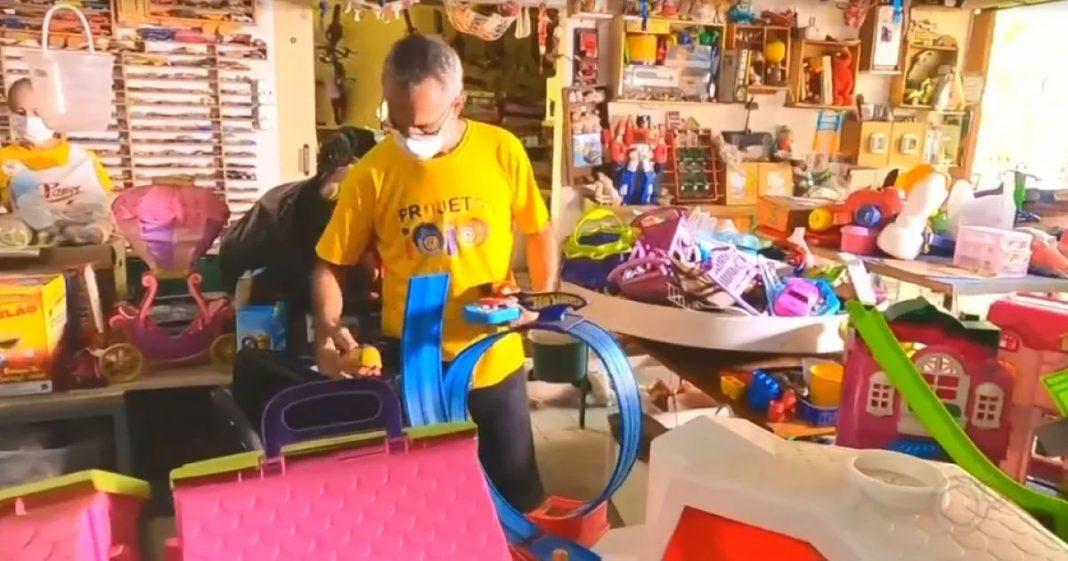 Oficina em Cedral (SP) restaura brinquedos para doar para crianças carentes no Natal 1