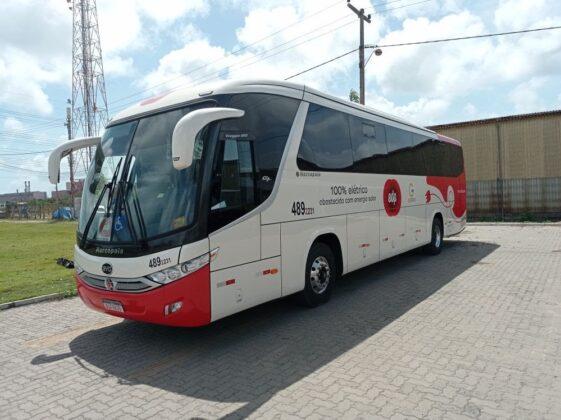 ônibus elétrico lançado no Ceará