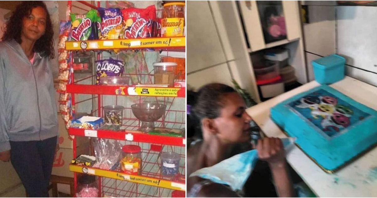 desempregada abre confeitaria