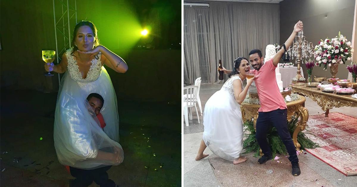 Esbanjando animação, penetra dança até o chão com noiva e vira seu amigo [VÍDEO] 1