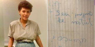 """Mulher em foto antiga e carta antiga deixada com filho abandonado dizendo: """"Seu presente de Natal"""""""
