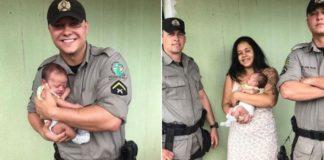 soldados salvam bebe engasgado