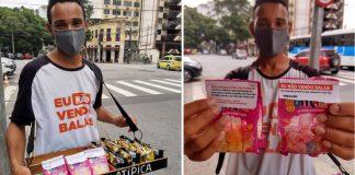vendedor ambulante cria projeto Não Vendo Balas