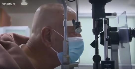 transplante de córnea sintética devolve visão para paciente cego