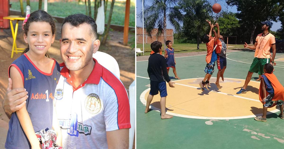 Agente penitenciário transforma a vida de filhos de detentos através do basquete (MS) 1