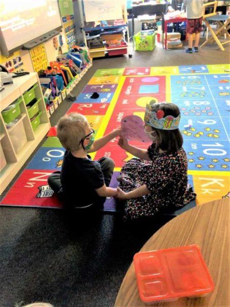 amizade no jardim de infância