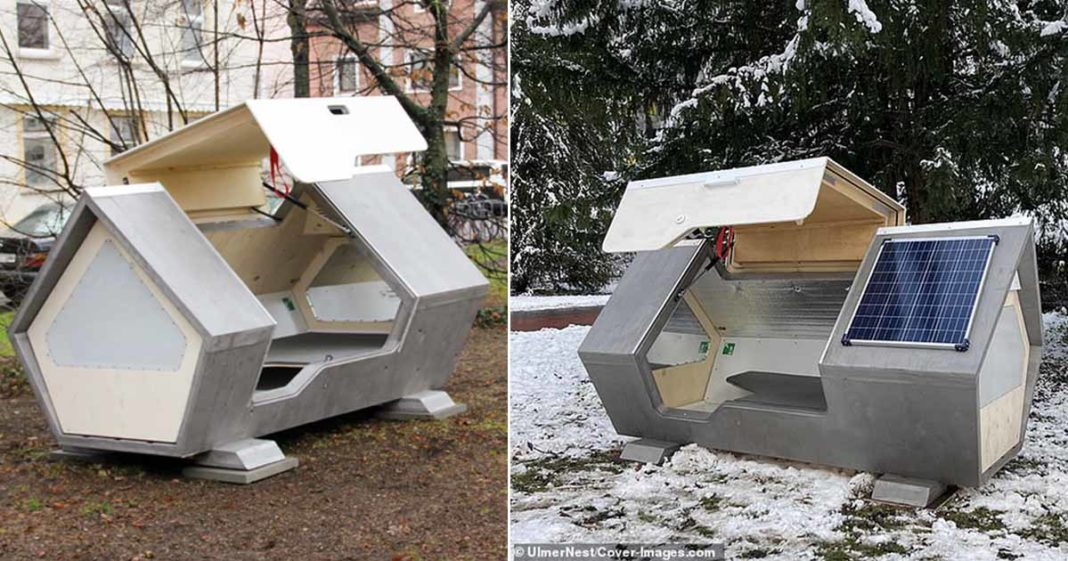 cápsula dormir moradores rua alemanha inverno