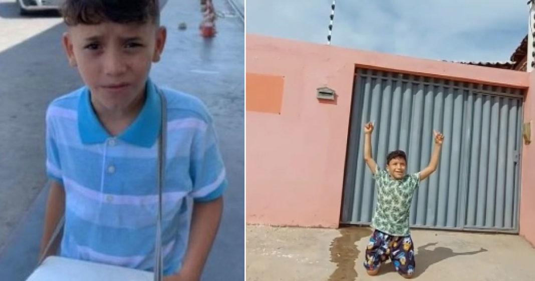 garoto vendedor de água compra casa