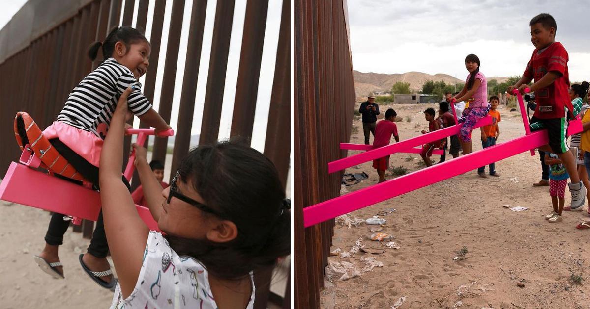 Gangorras em muro na fronteira México-EUA ganham prêmio de Design do Ano 1