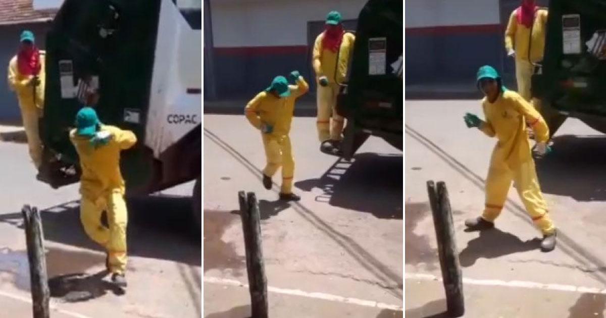 Gari dança enquanto coleta o lixo em Goiás e vídeo viraliza 4
