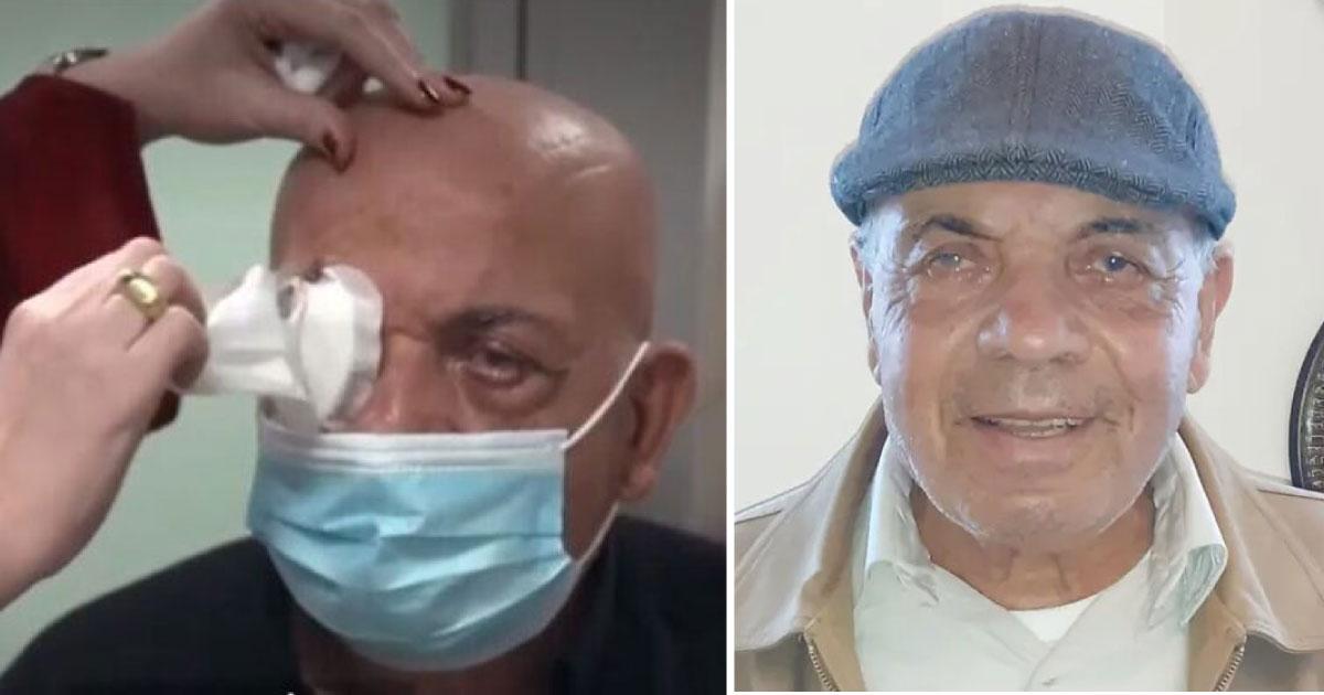 Com cirurgia inovadora de implante de córnea sintética homem cego recupera a visão 2