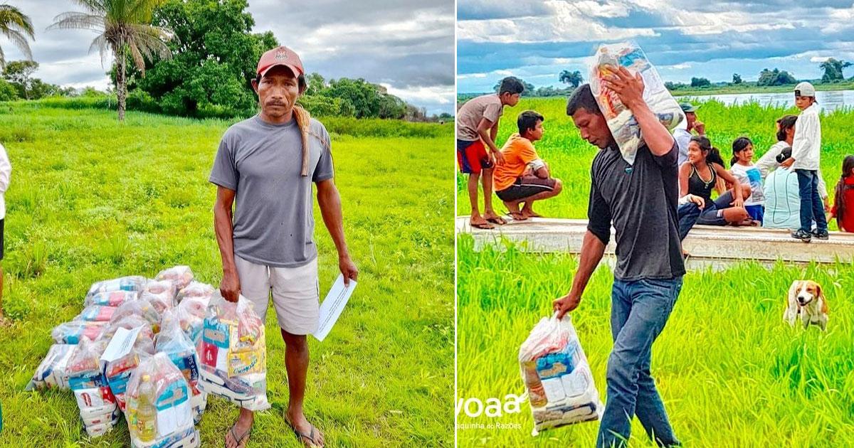 Após vaquinha, cestas básicas são distribuídas aos índios do Pantanal que estavam passando fome 3