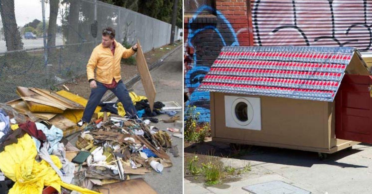 materiais do lixo casas