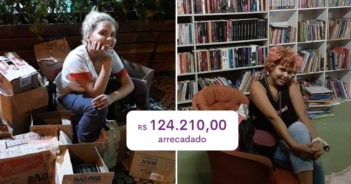 Vaquinha bate meta e menina de 13 anos terá sua própria biblioteca para acolher crianças em comunidade do RJ 1