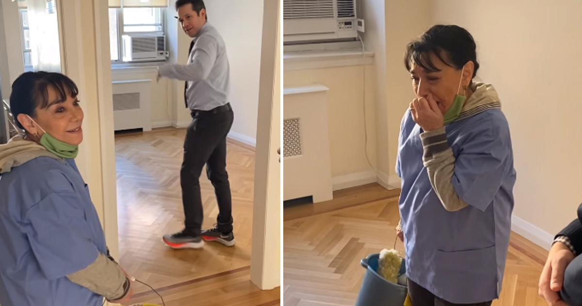 [VÍDEO] Moradores alugam apartamento para faxineira que perdeu casa e sua reação emociona! 1