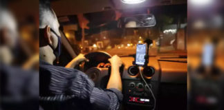 motorista aplicativo dirigindo carro
