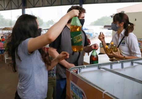 projeto recicla óleo de cozinha