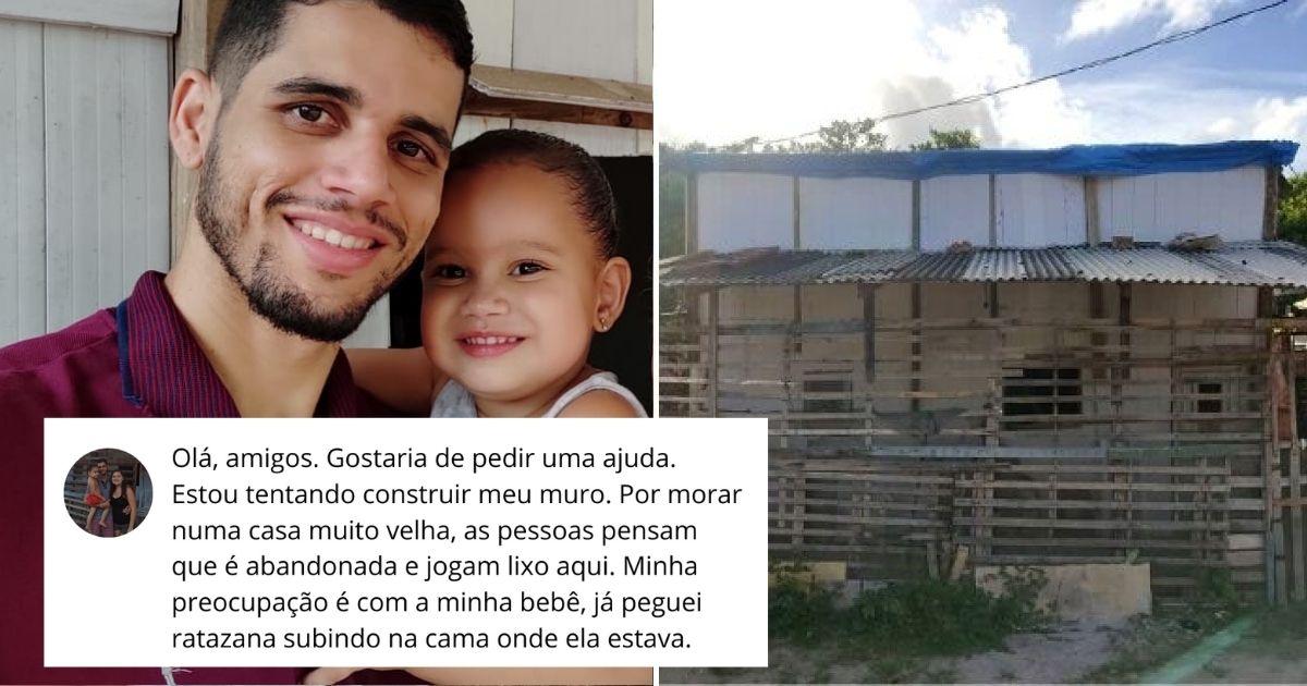 Pai faz desabafo sobre o sonho de construir um lar para seu bebê e vaquinha bate R$ 100 mil em 24h 1