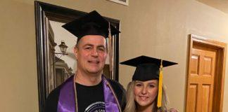 pai faz faculdade escondido da família
