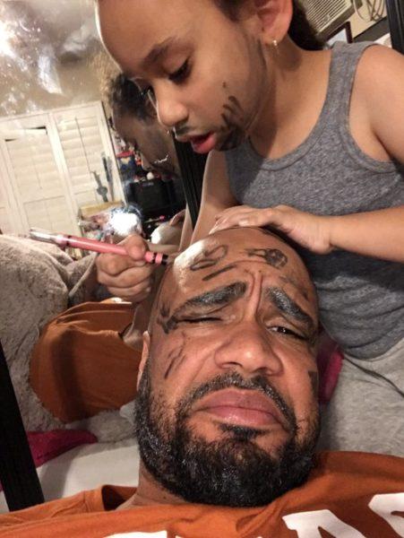 Pai posta foto maquiado e viraliza
