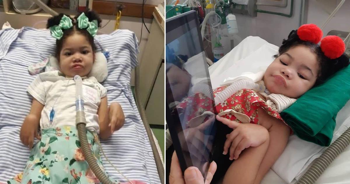Multilaser doa tablet para bebê que tem AME e vive acamada em hospital se desenvolver brincando 2