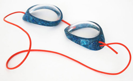 armação óculos mergulho escamas peixe