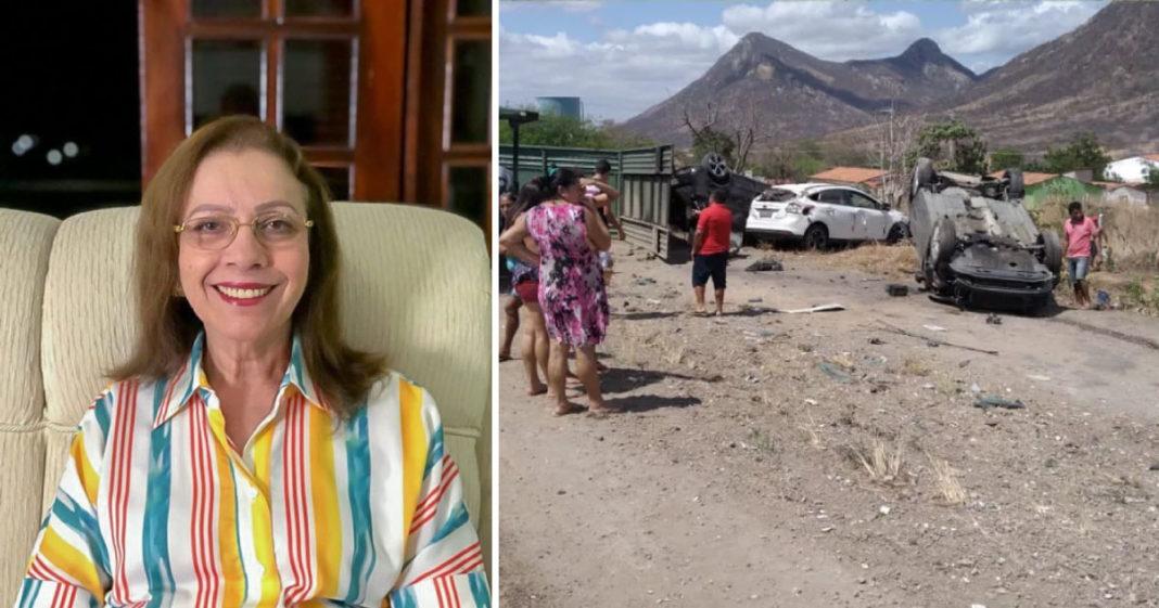 Prefeita de Itapajé (CE) abandona posse para socorrer pessoas feridas em acidente 2