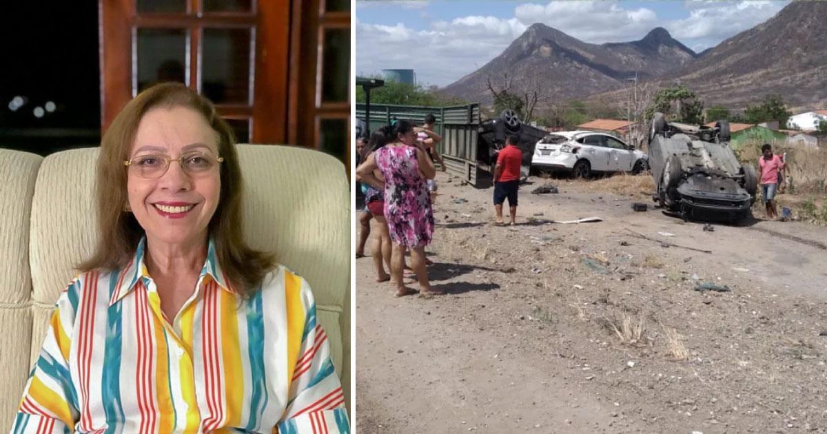 Prefeita de Itapajé (CE) abandona posse para socorrer pessoas feridas em acidente 4