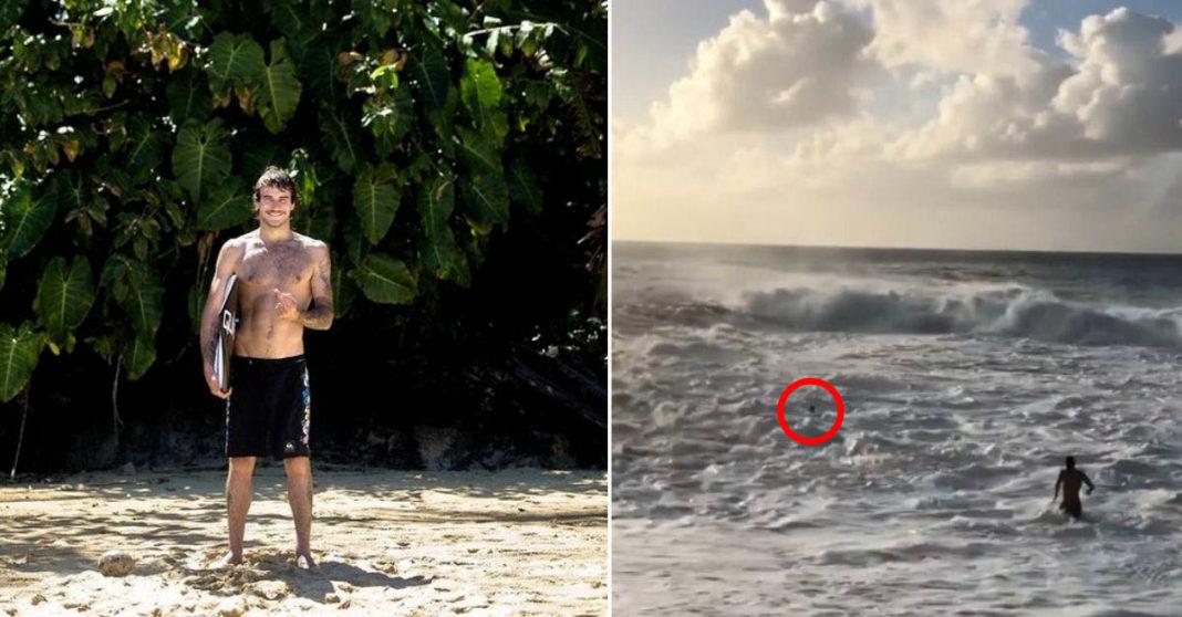 surfista salva mulher afogando mar austrália