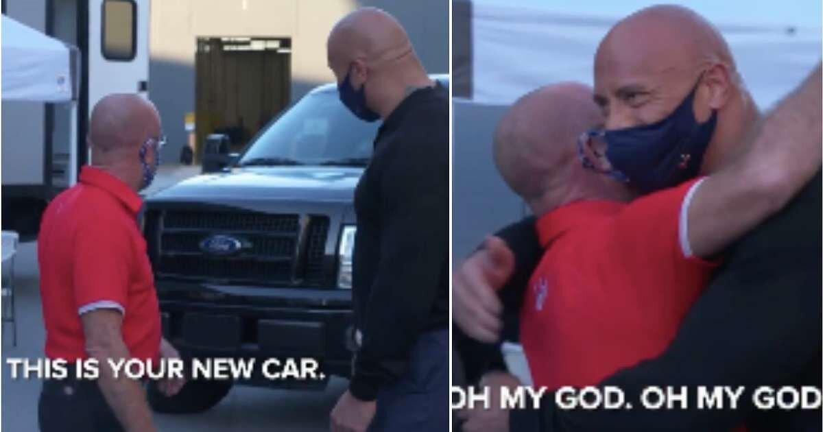 Dwayne Johnson, o 'The Rock', dá caminhonete para amigo que o ajudou antes da fama [VÍDEO] 2