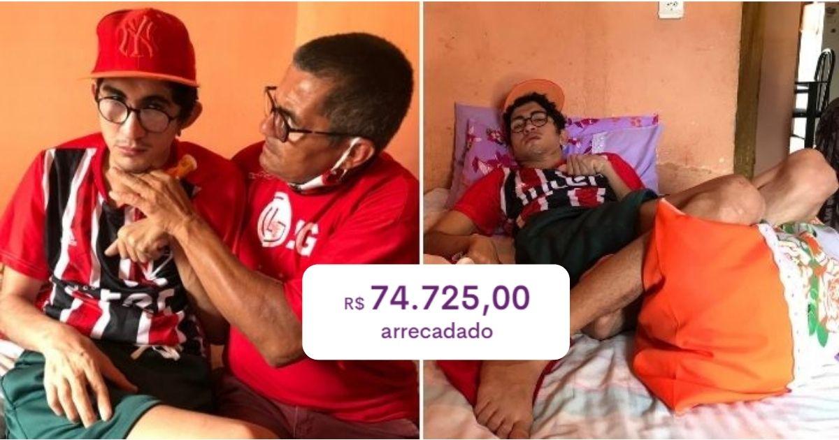 Time São Paulo mobiliza torcedores para ajudar jovem que ficou acamado após acidente e vaquinha bate R$ 74 mil 2