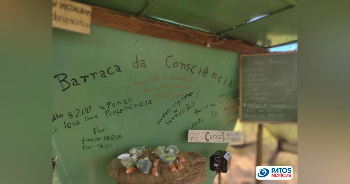 'Barraca da Consciência': em Minas, homem cria barraquinha sem vendedor e incentiva a honestidade 4