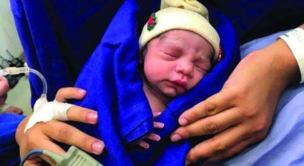 bebê nascido em útero transplantado