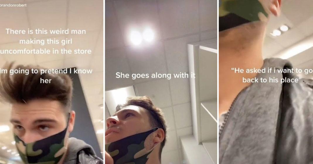 Homem finge conhecer mulher para ajudá-la a escapar de assédio; entenda o caso 1
