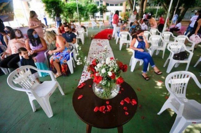 Decoração de casamento em hospital